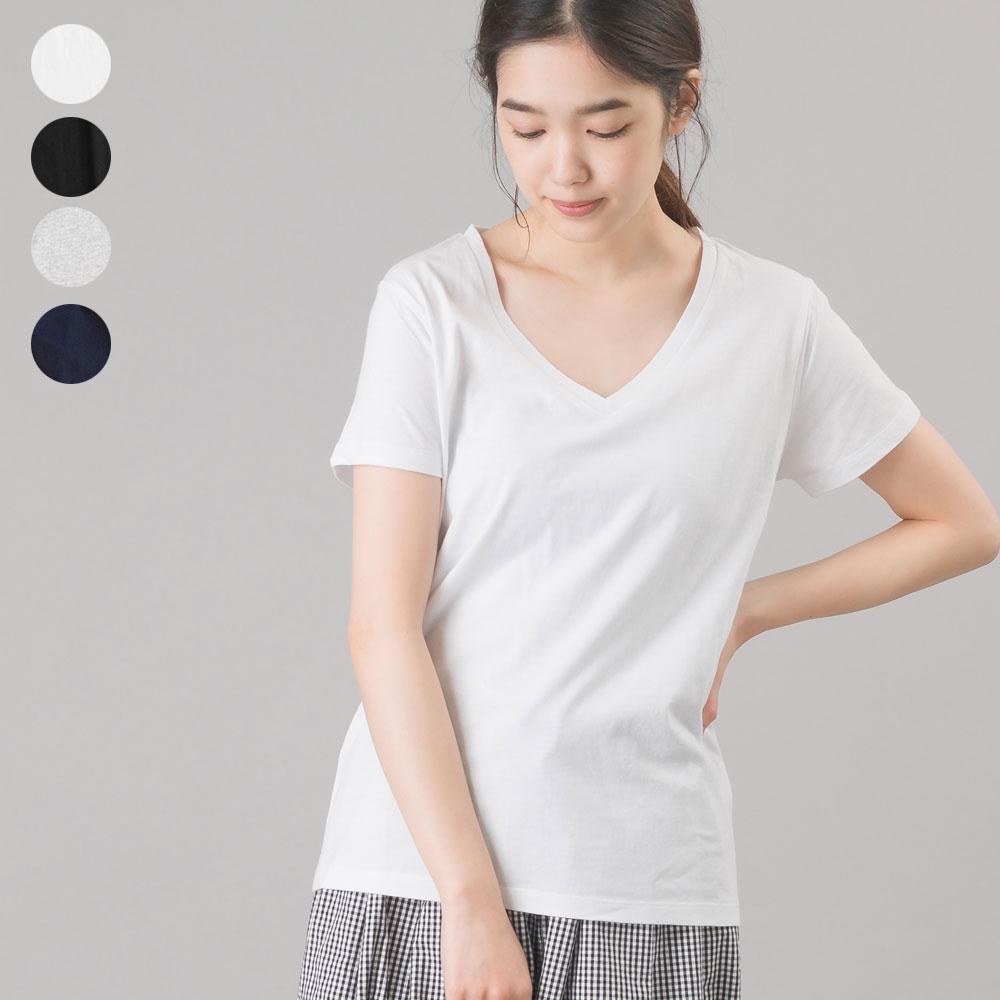 2枚組プレミアムコットンVネックTシャツ