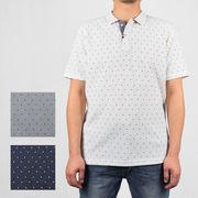 【特価】ドライMIX スラブカノコ 総柄ダブルフェイス 2B ポロシャツ【割引対象外】