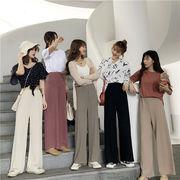 韓国ファッション通販業界1位★ CHIC気質/ゆったりする/カジュアル/ロング/ワイドレッグパンツ