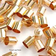 タッセルキャップ 8mm 金属製 ゴールド