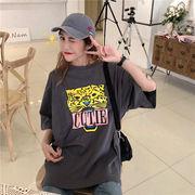 春夏新商品730717  大きいサイズ 韓国 レディース ファッション Tシャツ ワンピース  LL-4L