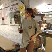 春夏新商品730712  大きいサイズ 韓国 レディース ファッション Tシャツ ワンピース  LL-4L
