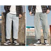 メンズジーンズ パンツ デニム チノパン ワイド バギーパンツ ゆったり おしゃれ