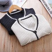 小中児童 荷重 春秋 新しいデザイン 韓国風 男女 厚手のセーター 赤ちゃん ルース ニ