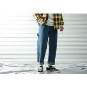 メンズジーンズ パンツ デニム チノパン ワイド バギーパンツ 大きいサイズ おしゃれ