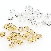 100個 桜 銅製 封入パーツ 3Dネイルパーツ 金 銀 5mm メタルパーツ UVレジン 埋め込み 質材 手芸