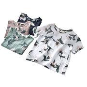 男女 半袖Tシャツ 新しいデザイン 夏服 小中児童 薄いスタイル フラワーズ トップス