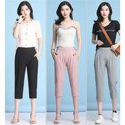 【大きいサイズS-4XL】ファッションパンツ♪グレー/ブラック/ピンク3色展開◆