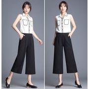 【大きいサイズS-3XL】【春夏新作】ファッションパンツ♪ブラック/グレー/アンズ3色展開◆ 七分