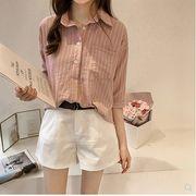 【大きいサイズM-4XL】ファッション/人気ワイシャツ♪ホワイト/グレー/ピンク3色展開◆