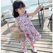 キッズワンピース ファッション 女の子 カジュアル ワンピース 花柄 夏