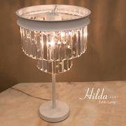 【LED対応 E12/40W】クリスタル テーブルランプ HILDA ヒルダ(3灯)