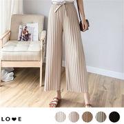 【今、買いたいが特価!】韓国ファッション  CHIC気質  プリーツワイドパンツ  全5色
