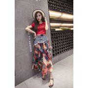 幸せな休暇! 韓国ファッション INS熱い販売 夏  デニムスカート スカート お出かけ ビーチスカート