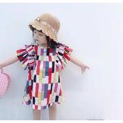 キッズワンピース ファッション 女の子 カジュアル ワンピース 夏