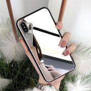 iPhoneケース ミラー 鏡面加工 アイフォンケース 鏡付きで便利