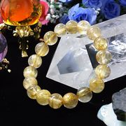 4A級 ルチルクォーツ 針水晶 10.5mm ブレスレット 天然石 パワーストーン 丸玉 数珠