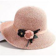 品質改善 高品質新入庫/INSスタイル/麦わら帽子/ビーチワンビース/お出かけ/日よけします/帽子