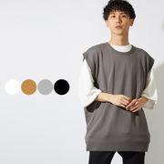 【2019春夏新作】 メンズ クルーネック BIGサイズ アクリル ニット ベスト