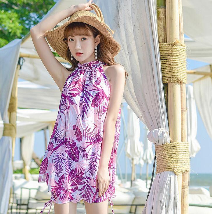 ファッション新作  水着 花柄ワンピース スイムウェア  温泉 セクシー  海 夏 韓国 3点セット