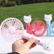 【夏ファッション新品】 USB充電用扇風機 スプレーミニファン テーブルファン 携帯便利 ハローキティ