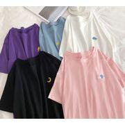 ポイントマークTシャツレディース 韓国 オルチャン かわいい おしゃれ シンプル