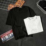 【ファッション夏新作】 Tシャツ 半袖Tシャツ メンズ クルーネック 無地 韓国ファッション Oversize