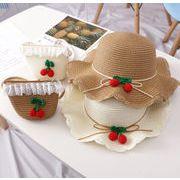 夏新作 激安 キッズ  帽子 キャップ バッグ 編み ビーチ 麦わら帽子