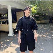 【春夏新作】ファッション/人気ツナギ♪ホワイト/ブラック2色展開◆