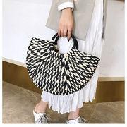 入荷しました  韓国ファッション インスタ映えストローバッグトートバッグハンドバッグ草編みカゴバッグ