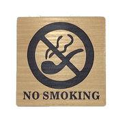 禁煙ノースモーキング NO SMOKING サインプレート 木目調アクリルプレート