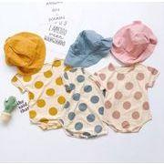 夏新型★ベビー赤ちゃん★キッズ男女★ロンパース★66cm-90cm★帽子付き