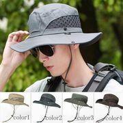 メンズ サファリハット 夏 帽子 バケットハット UVカット メンズハット シンプル