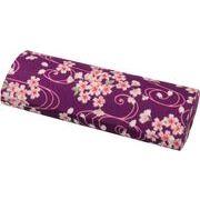 まつみ工芸さくらはんメガネ入れ エンボス 紫