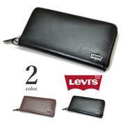 【全2色】 Levi's リーバイス ラウンドファスナー ウォレット 長財布 リアルレザー メンズ レディース