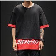 【大きいサイズM-5XL】ファッション/人気Tシャツ♪ホワイト/ブラック2色展開◆