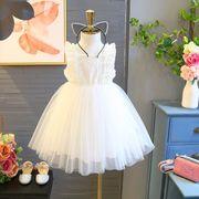 キッズワンピース ファッション 女の子 ホワイト 夏 ワンピース 姫様 可愛い 綺麗