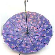 【雨傘】【長傘】つやつやサテン和風16本グラスファイバー骨表無地裏面柄手開き雨傘