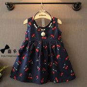 韓国風 夏服 新品 女子供服 かわいい ちび パターン 背中開き ひもあり 短いスタイル