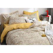 品質自信あり 韓国  INSスタイル 枕カバー 3点セット ふとんのシーツ シーツ プリント 寝具