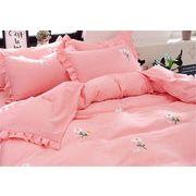 春に大流行の予感 韓国 枕カバー 4点セット ふとんのシーツ シーツ 氷の糸 ふたり 簡約 寝具