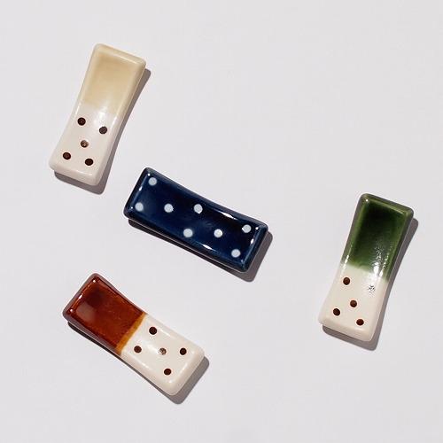 【mignon】 箸置き [日本製 美濃焼 食器] ドット 水玉 オリジナル