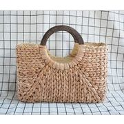 カゴバッグ ハンドバッグ トートバッグ スクエア 手作り 夏 ビーチ 透かし編み