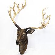 牡鹿のヘッド壁掛けオブジェ  ■ インテリア 雑貨 飾り 置物 鹿