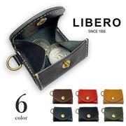 【全6色】 LIBERO リベロ 日本製 栃木レザー 超ミニコインケース 財布 リアルレザー 牛革