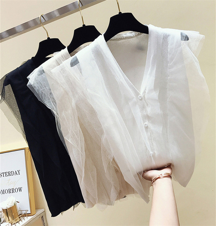 2019春更新 高品質 韓国ファッション 夏 新着 韓国 ノースリーブ ベスト カレッジウィンド トップス