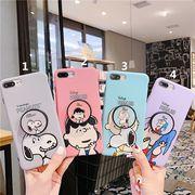 【ファッション新品】 携帯電話カバー iPhoneカバー スマホケース 保護 スヌーピー ホルダー付き