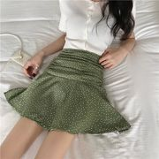 夏2色 韓国ファッション可愛 レディーズ 合わせやすい ハイウェ カジュアル スハイウェスト スカート