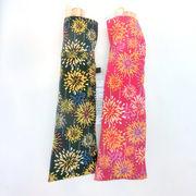 【日本製】【晴雨兼用】【折りたたみ傘】和調ちりめん小紋生地花火柄日本製UVカット折畳傘