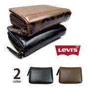 【全2色】 Levis リーバイス BIGロゴデザイン エコレザー 二つ折り財布 ウォレット